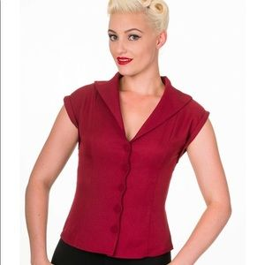 Banned Red Pinup Top
